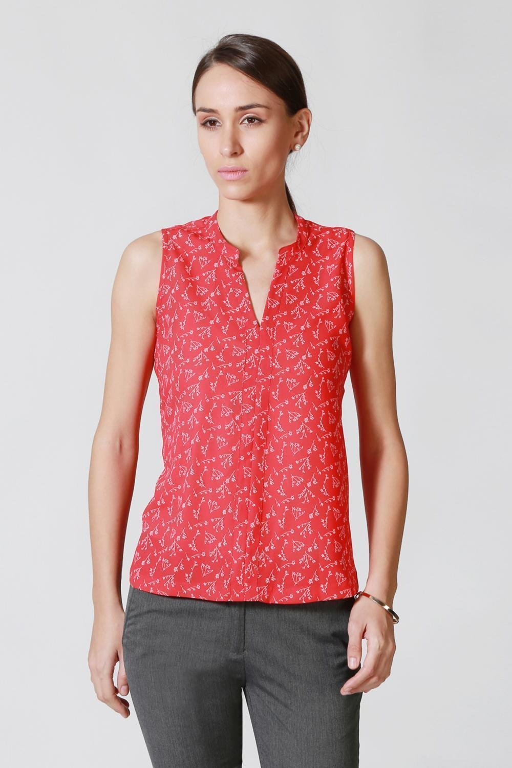 d55b5691b6 Solly Tees & Tops, Allen Solly Red Top for Women at Allensolly.com
