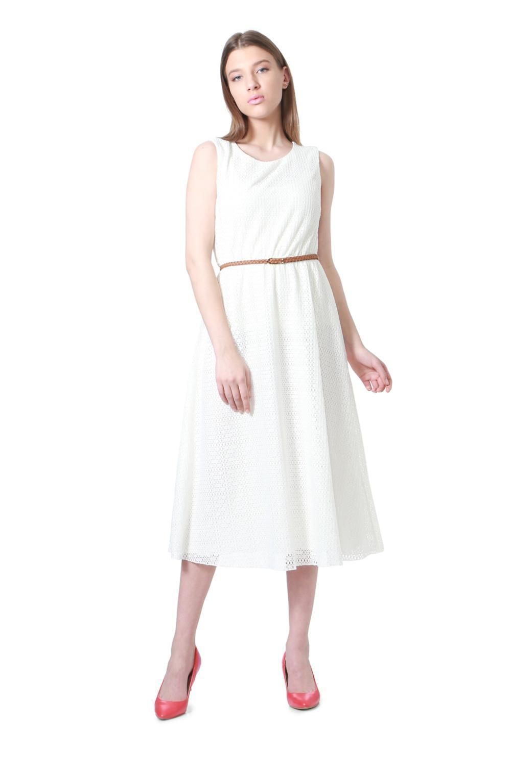 cbbecdbf42a5a Solly Dresses, Allen Solly White Dress for Women at Allensolly.com