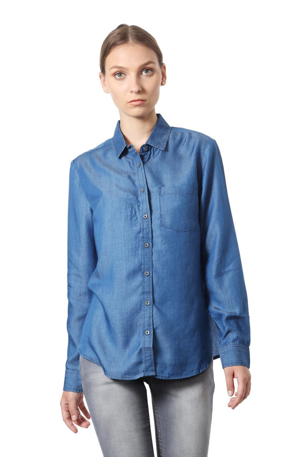 524f922a8ca8 Solly Shirts & Blouses, Allen Solly Blue Shirt for Women at Allensolly.com