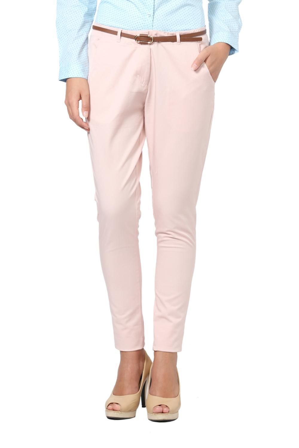 c24b2a7a6a0e66 Solly Trousers & Leggings, Allen Solly Pink Trousers for Women at Allensolly .com