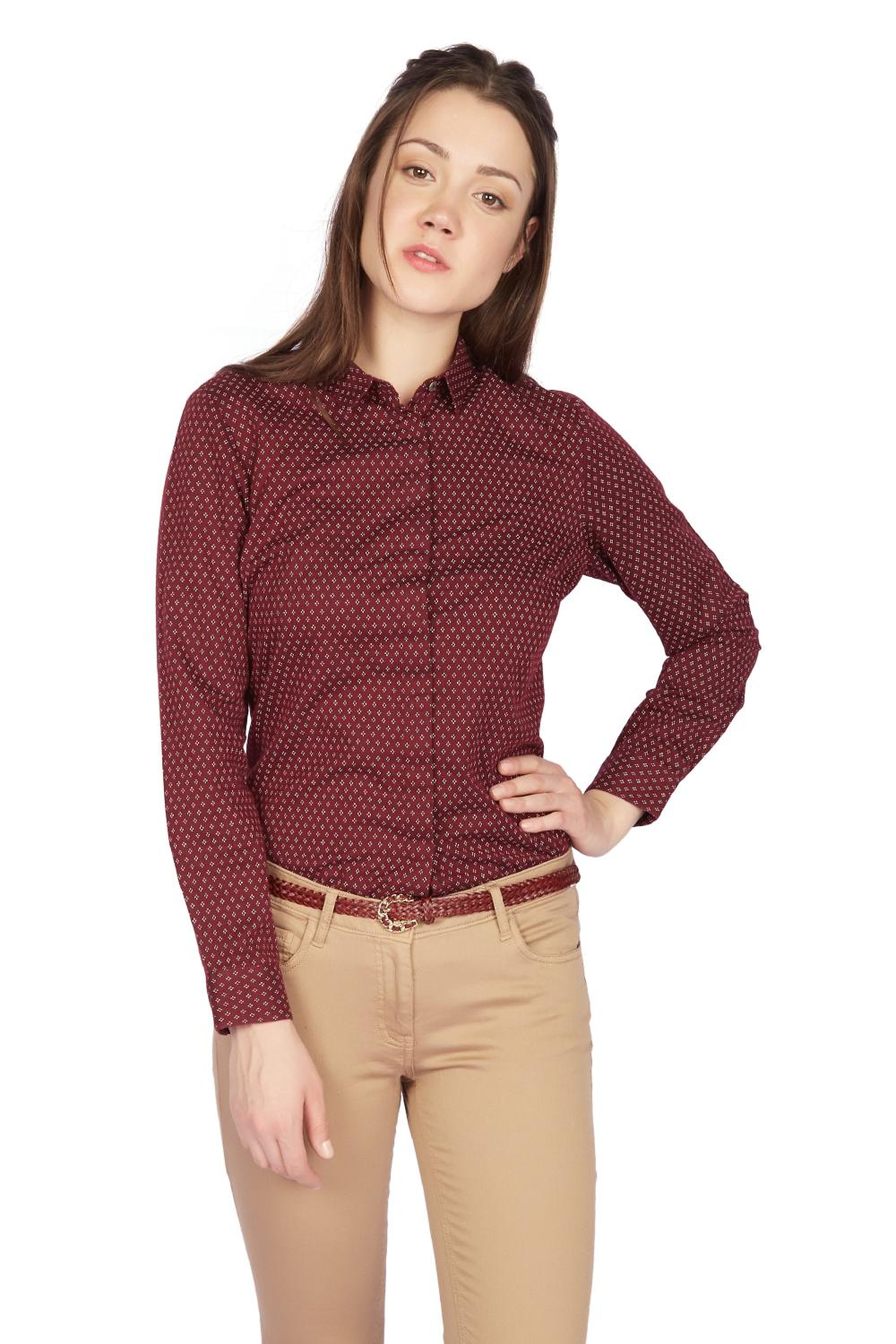2021fc3d596050 Solly Shirts & Blouses, Allen Solly Maroon Shirt for Women at ...