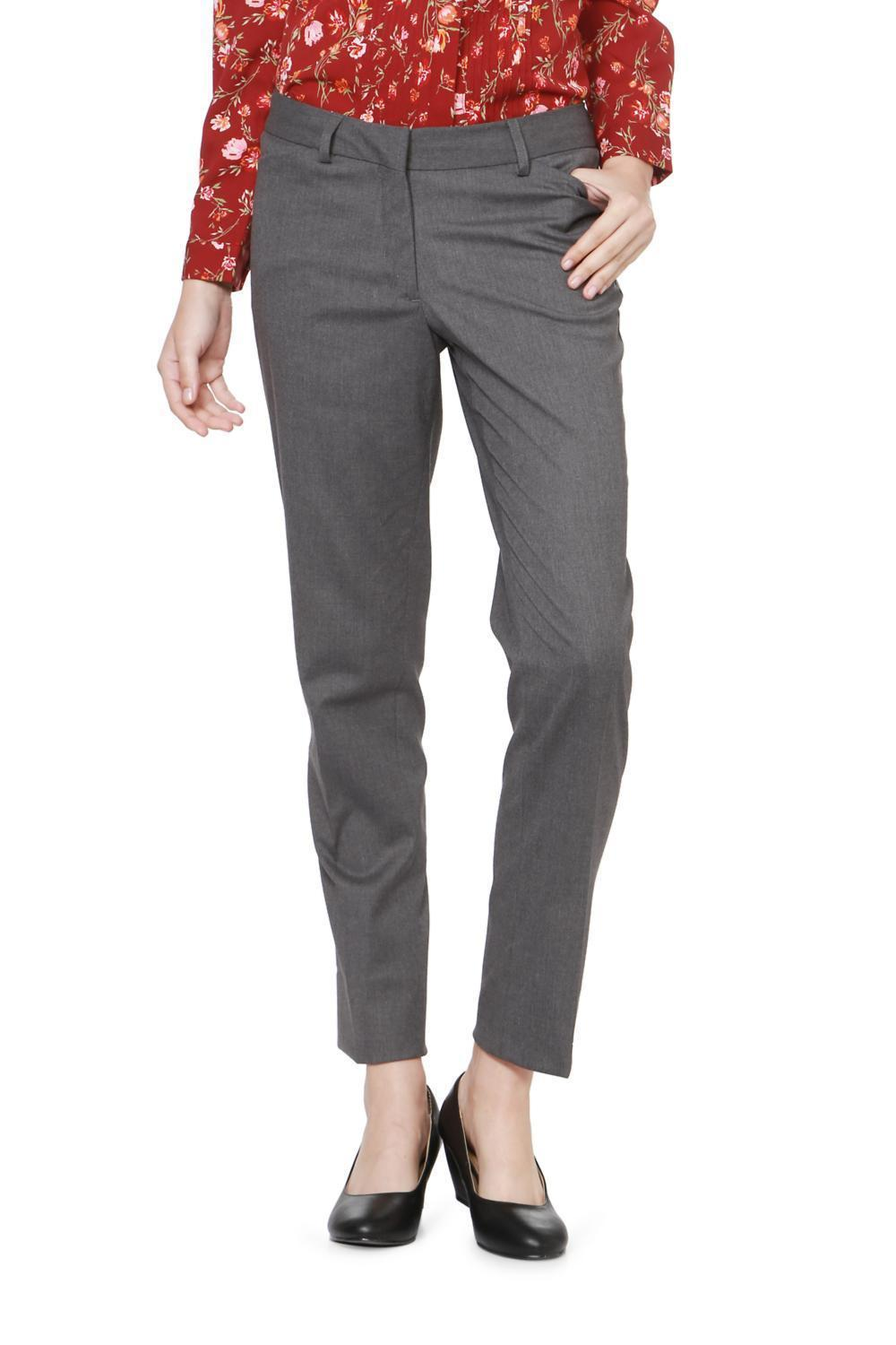 234e01571a0e1f Solly Trousers & Leggings, Allen Solly Grey Trousers for Women at Allensolly .com