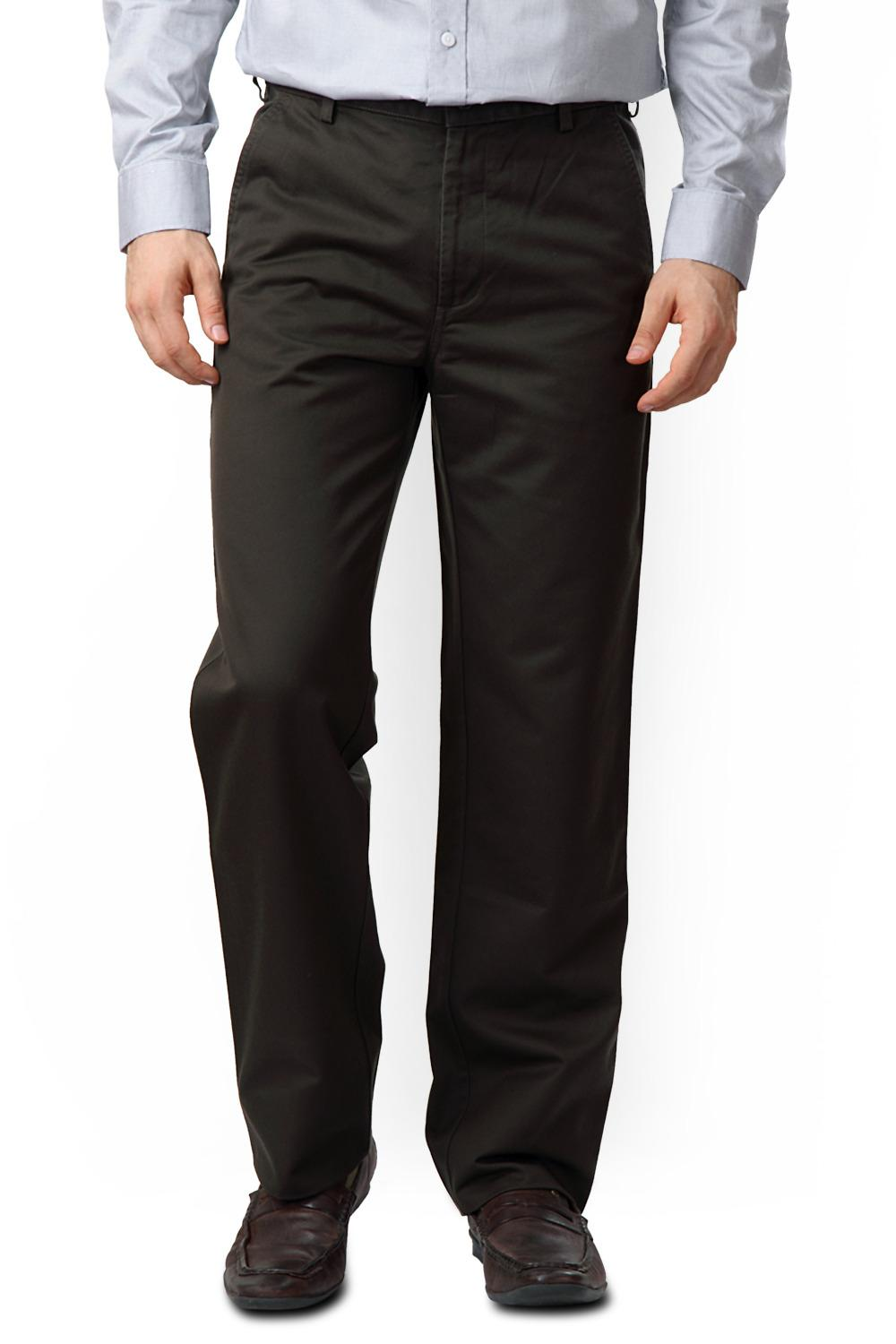 2019 factory price outlet great look Allen Solly Trousers & Chinos, Mid Rise Flat Front Trousers for Men at  Allensolly.com