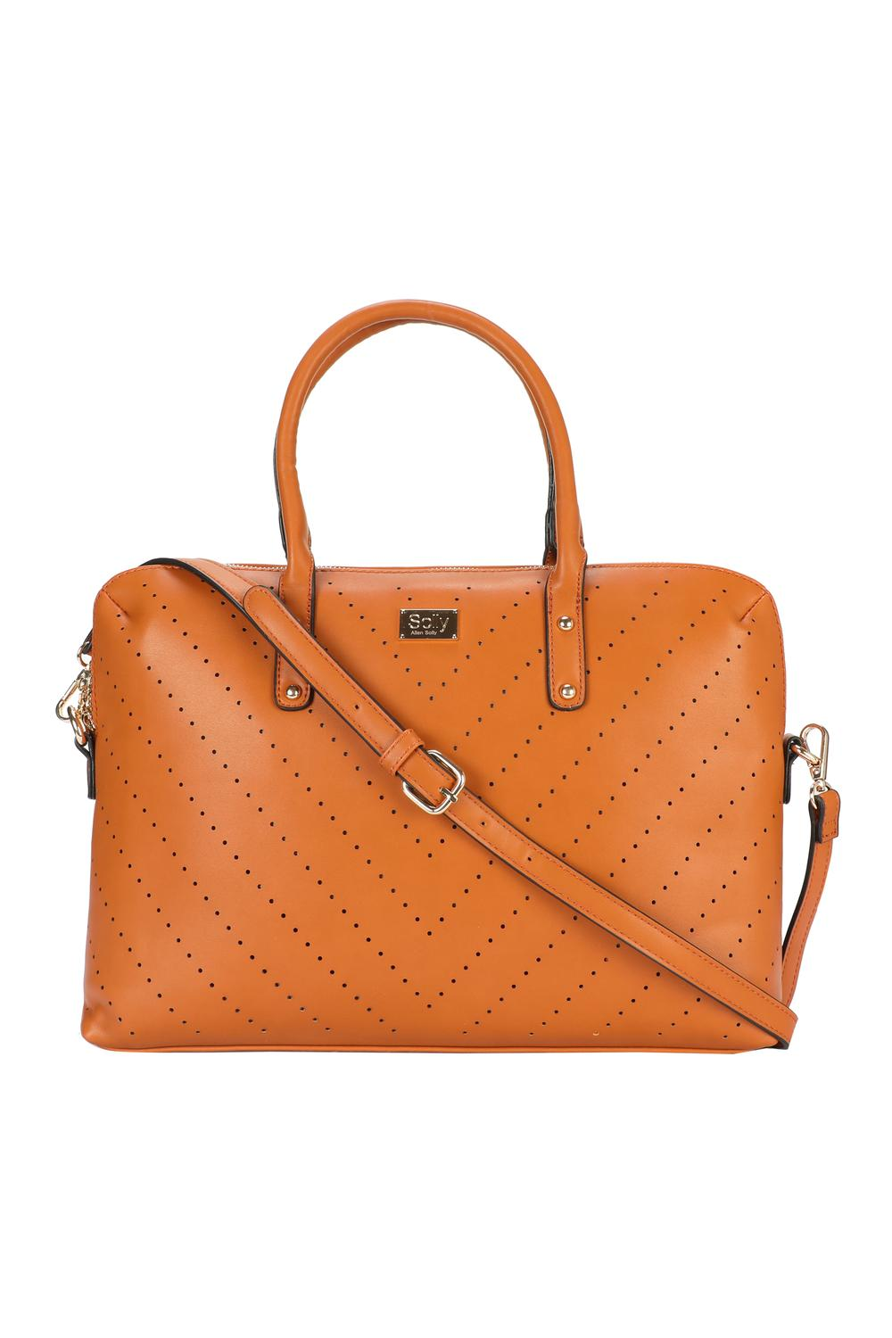 Solly Fashion Accessories Allen Tan Laptop Bag For Women At Allensolly
