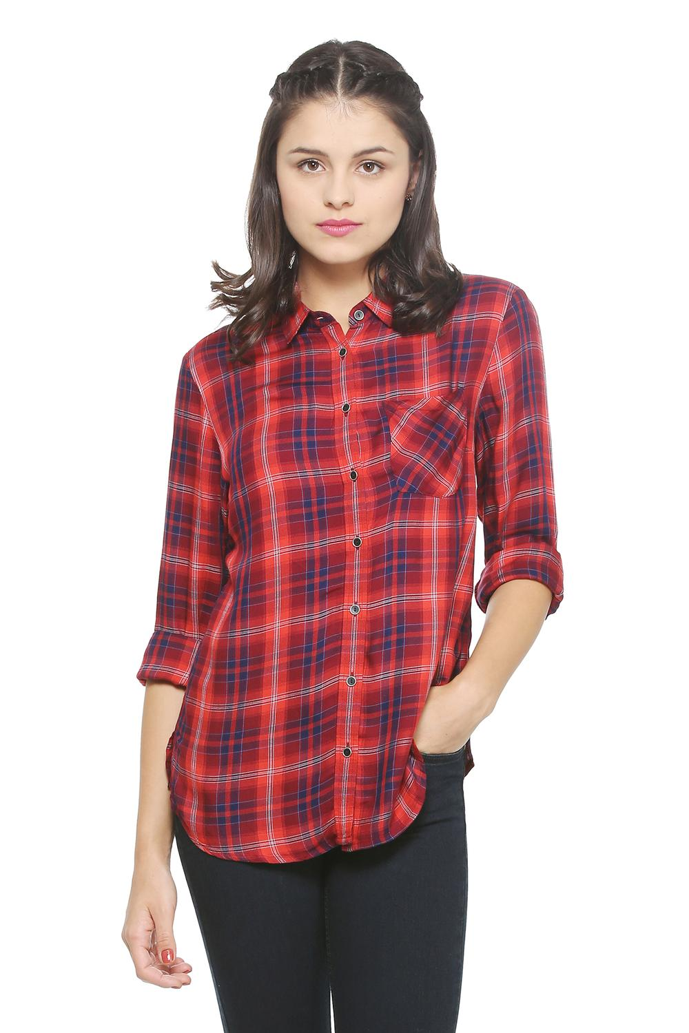 67ed1c829db5 Solly Shirts & Blouses, Allen Solly Red Shirt for Women at Allensolly.com