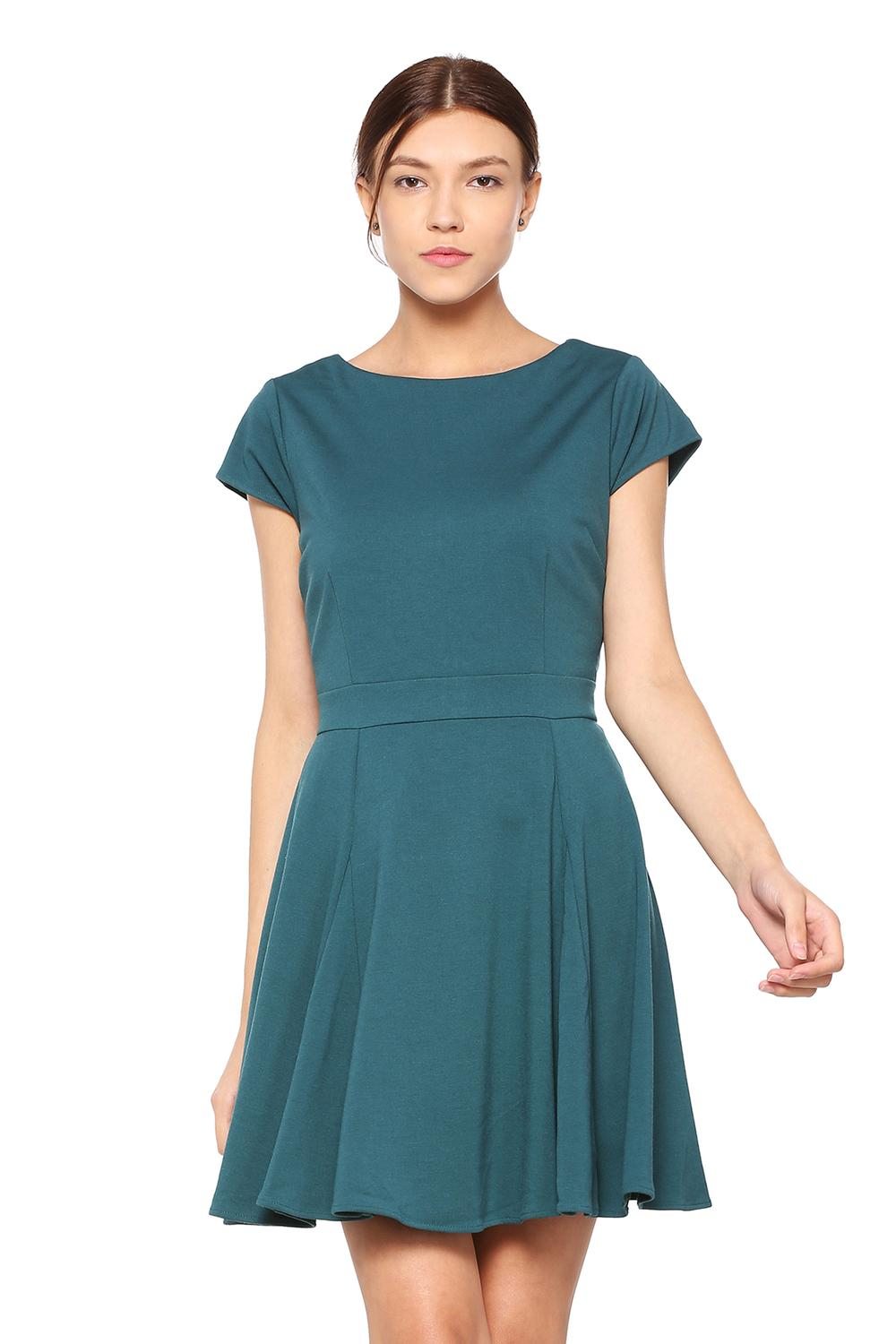 97a691c6a9f3 Solly Dresses, Allen Solly Green Dress for Women at Allensolly.com