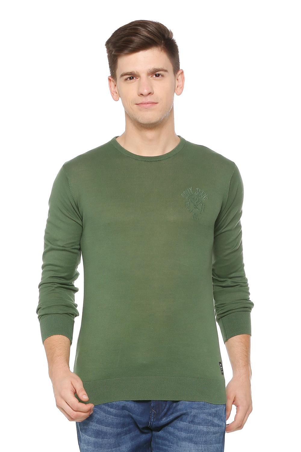 Solly Jeans Co Sweaters, Allen Solly Green Sweater for Men at Allensolly.com