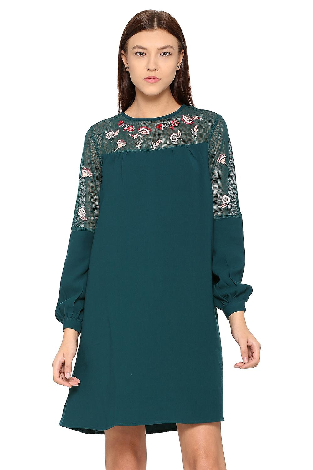 8225a8876a22 Solly Dresses, Allen Solly Blue Dress for Women at Allensolly.com