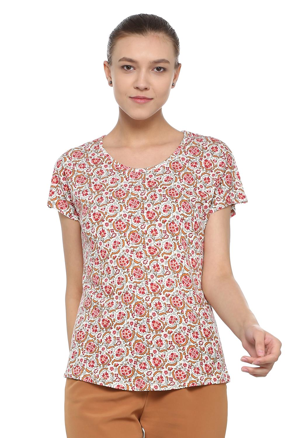 60e99f6a8 Solly Tees & Tops, Allen Solly Red Liva Top for Women at Allensolly.com