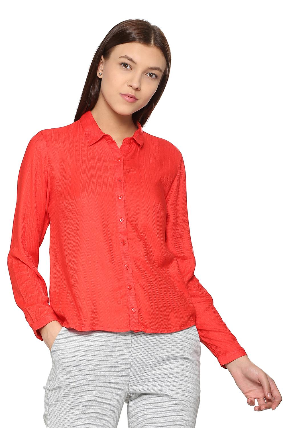 9beead472c Solly Shirts & Blouses, Allen Solly Red Shirt for Women at Allensolly.com