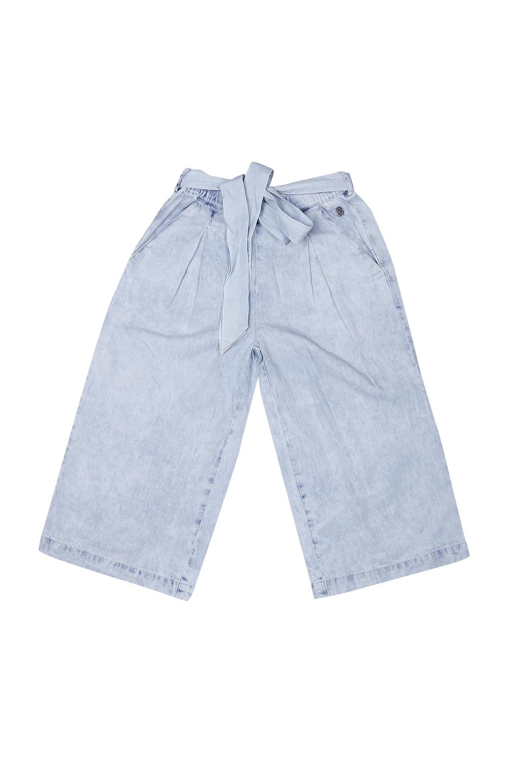 8757af52 Allen Solly Junior Bottoms & Leggings, Allen Solly Blue Trousers for Girls  at Allensolly.com