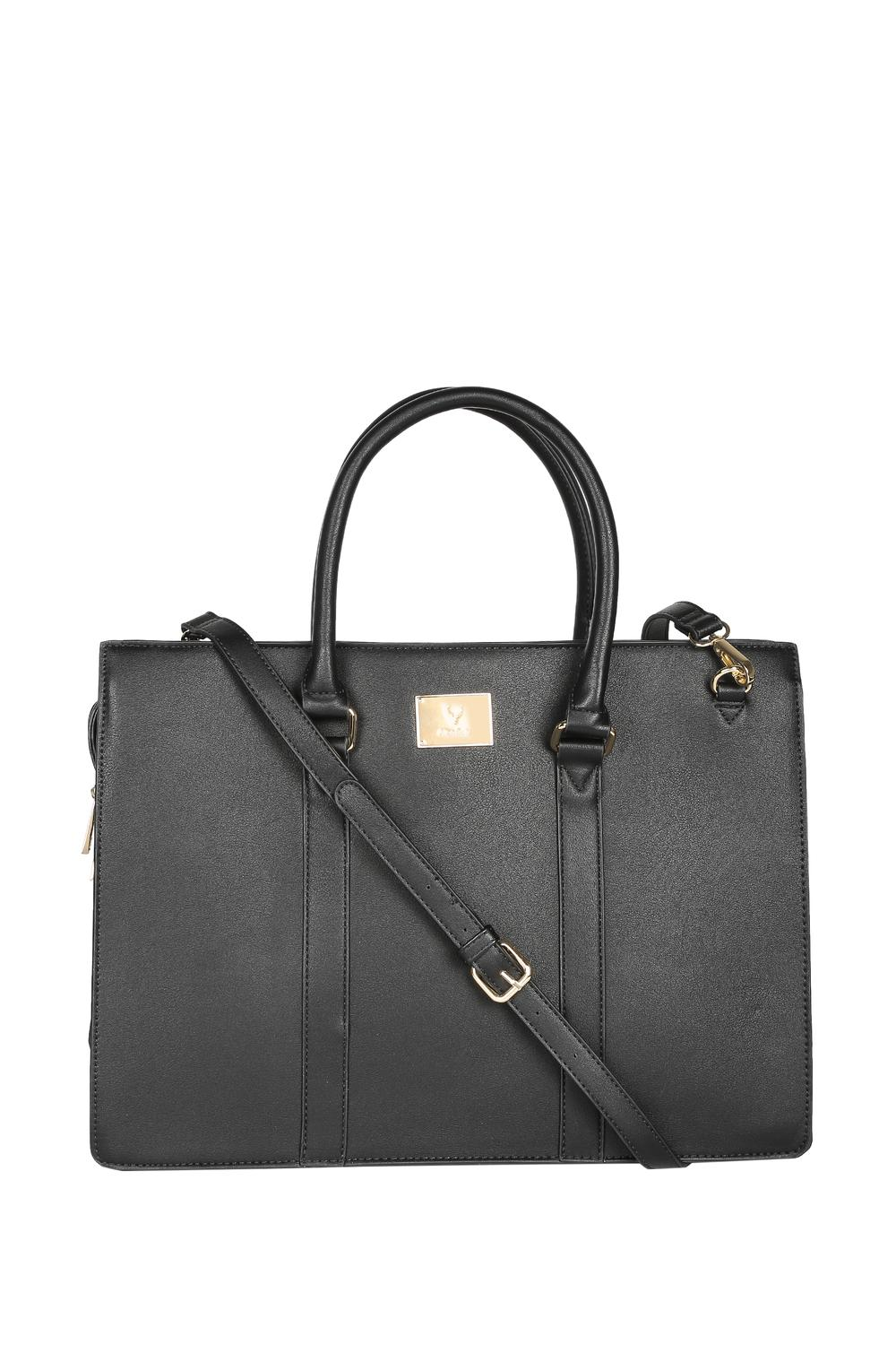 Solly Fashion Accessories Allen Black Laptop Bag For Women At Allensolly