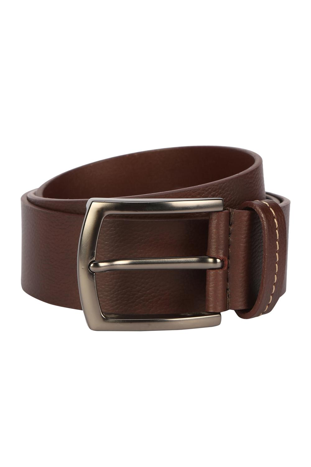 Solly Jeans Co Accessories Allen Solly Brown Belt For Men At