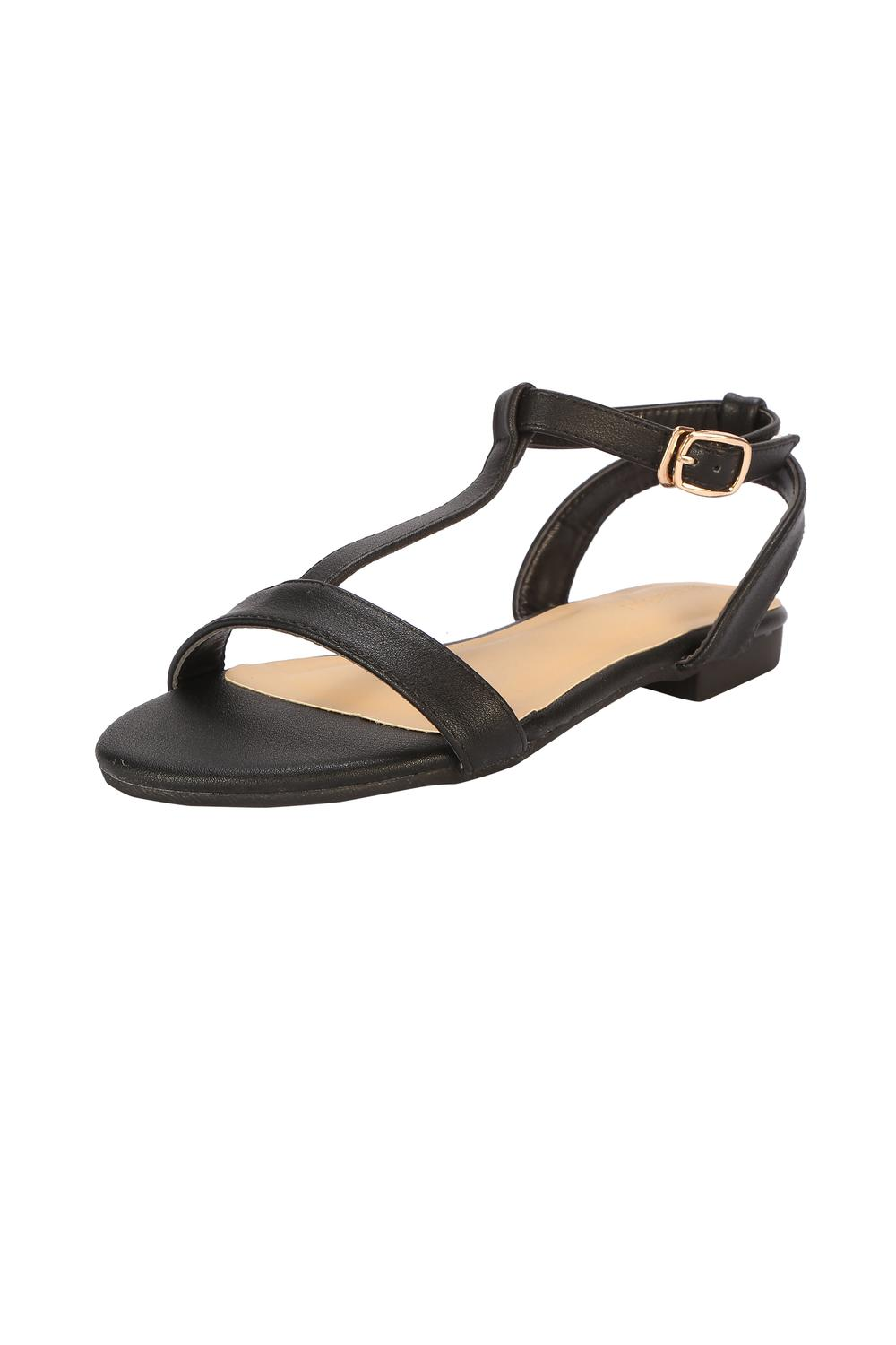 d2889e3b369aa Solly Footwear, Allen Solly Black Sandals for Women at Allensolly.com