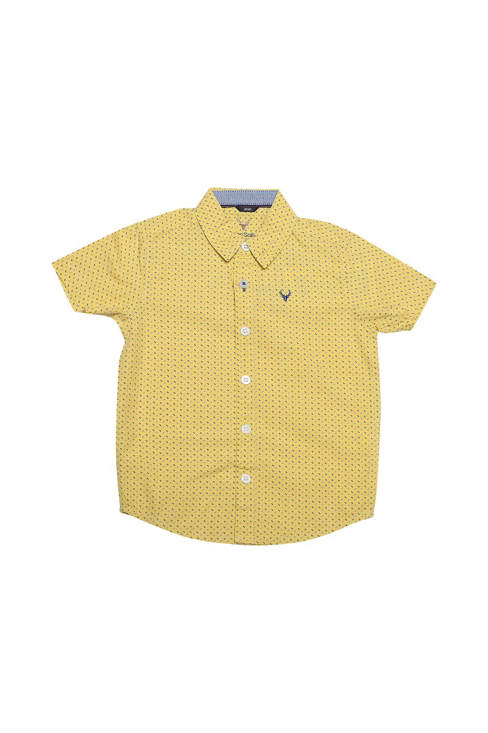 caef5a69e Allen Solly Junior Shirts & Tees, Allen Solly Yellow Shirt for Boys at  Allensolly.com