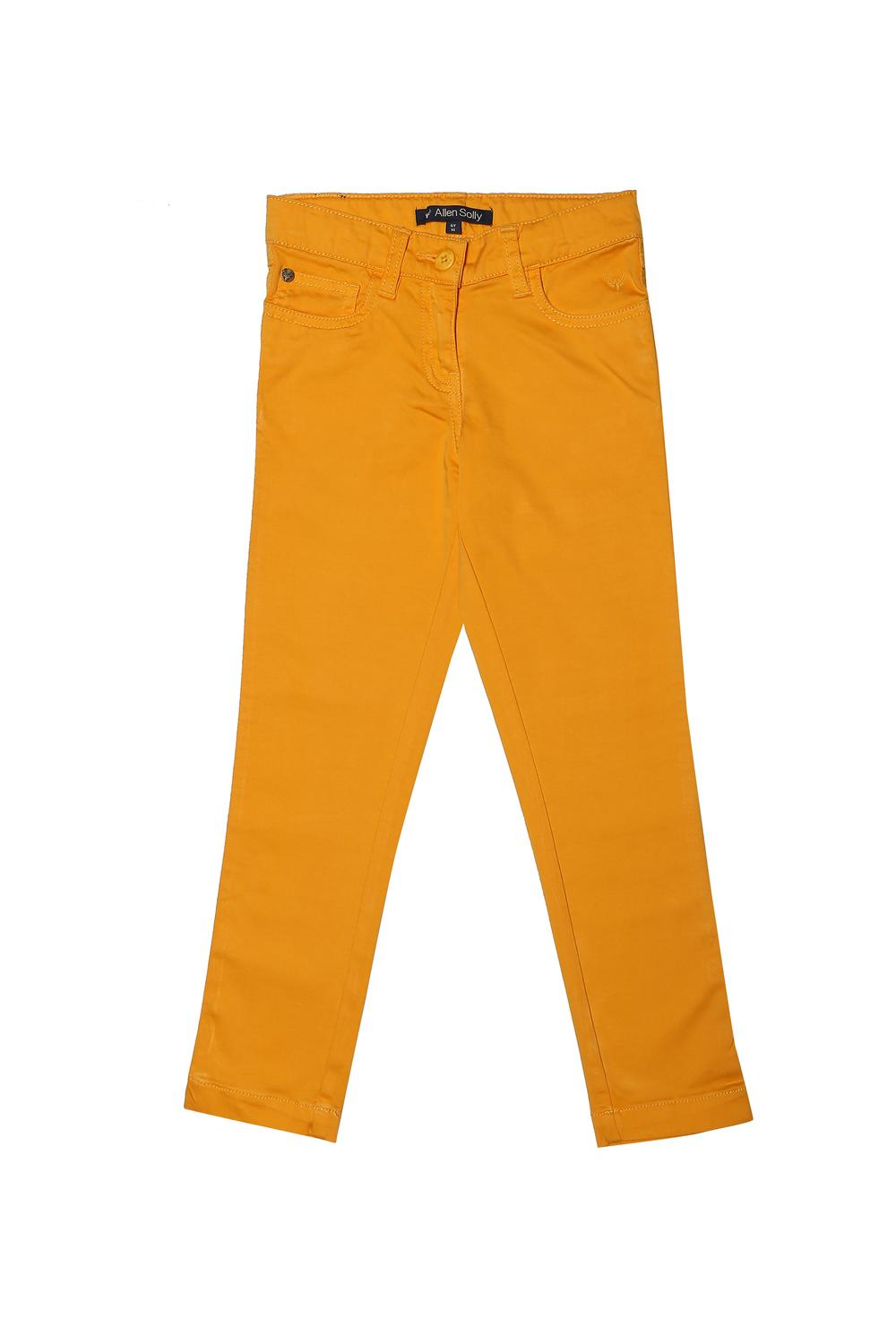 32be0ca3ea9a4e Allen Solly Junior Bottoms & Leggings, Allen Solly Yellow Trousers for Girls  at Allensolly.com