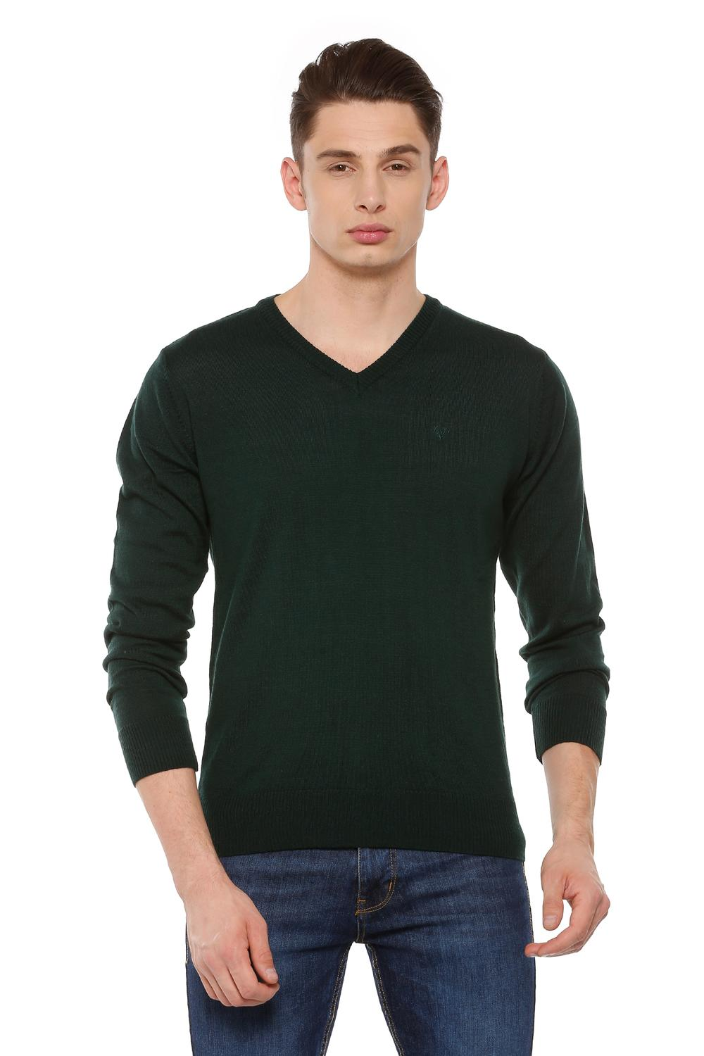 Allen Solly Sweaters, Allen Solly Green Sweater for Men at Allensolly.com