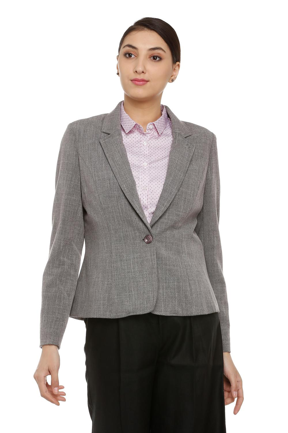 uk cheap sale top-rated discount release date Solly Suits & Blazers, Allen Solly Grey Blazer for Women at Allensolly.com
