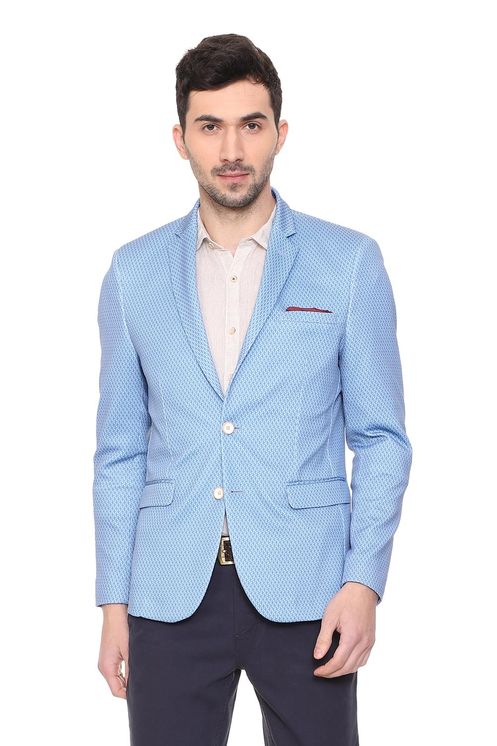 b9c900fd1454 Solly Sport Suits & Blazers, Allen Solly Blue Blazer for Men at  Allensolly.com