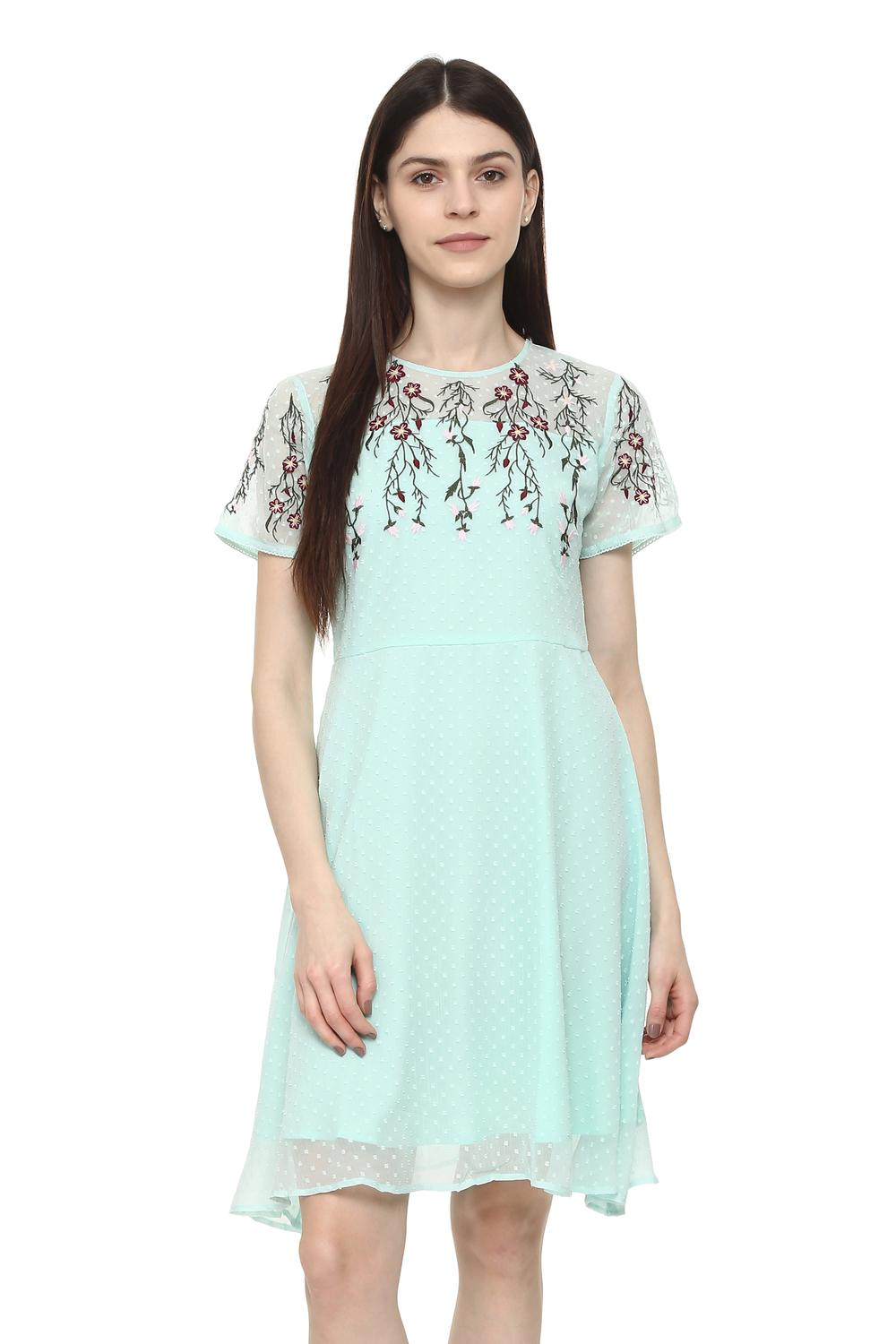 fc52746e2393b Solly Dresses, Allen Solly Blue Dress for Women at Allensolly.com