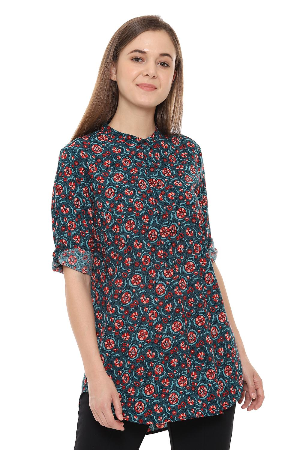 c6cb67c54b Solly Tunics, Allen Solly Red Tunic for Women at Allensolly.com