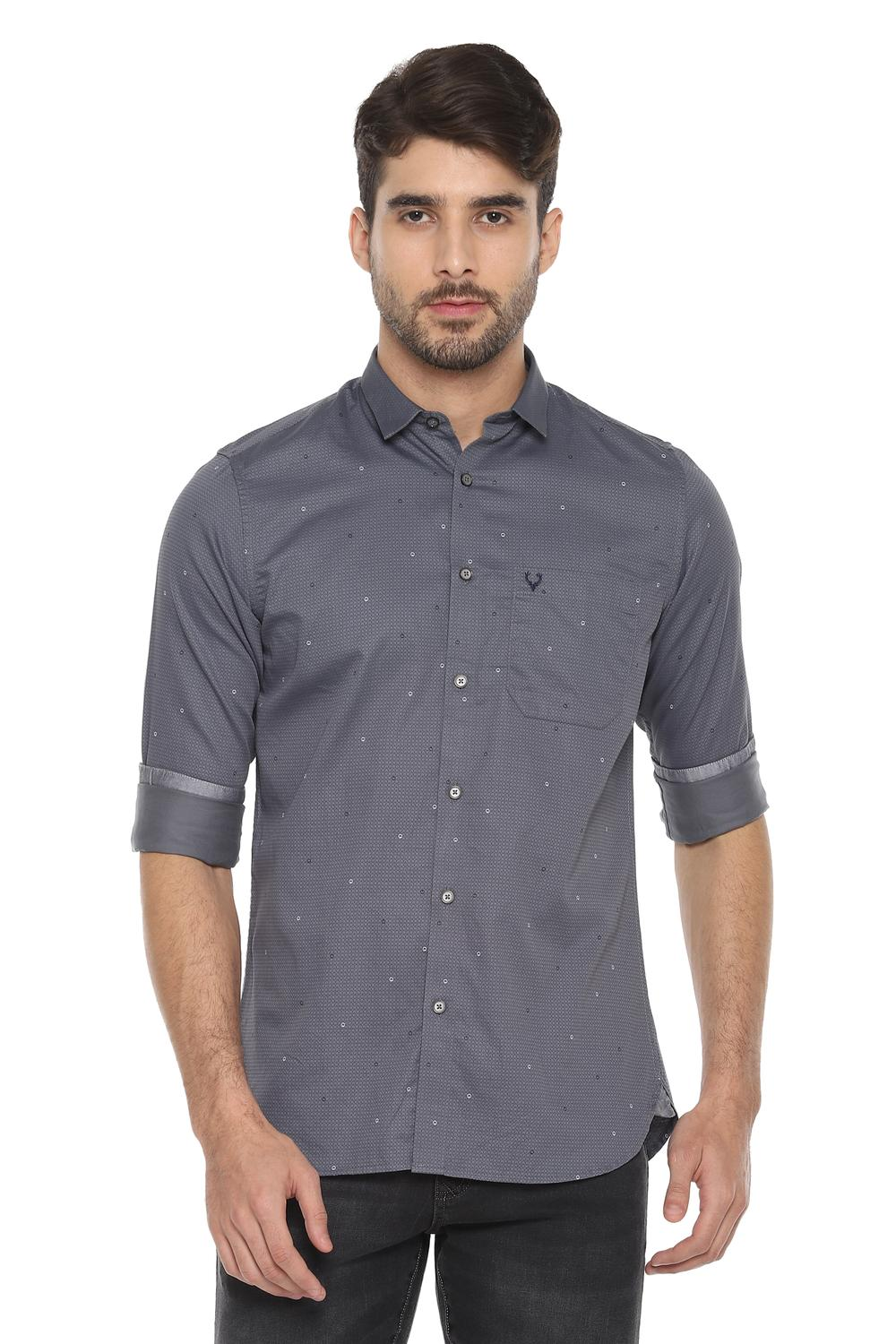 order online shopping release date: Allen Solly Shirts, Allen Solly Grey Shirt for Men at Allensolly.com