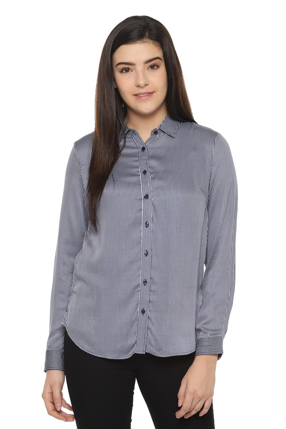 Ladies CREAM long Sleeve fitted Blouse Work//office//social//leisure Choose Size
