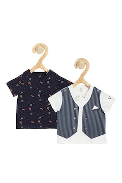 Allen Solly White Pack of Two T shirts
