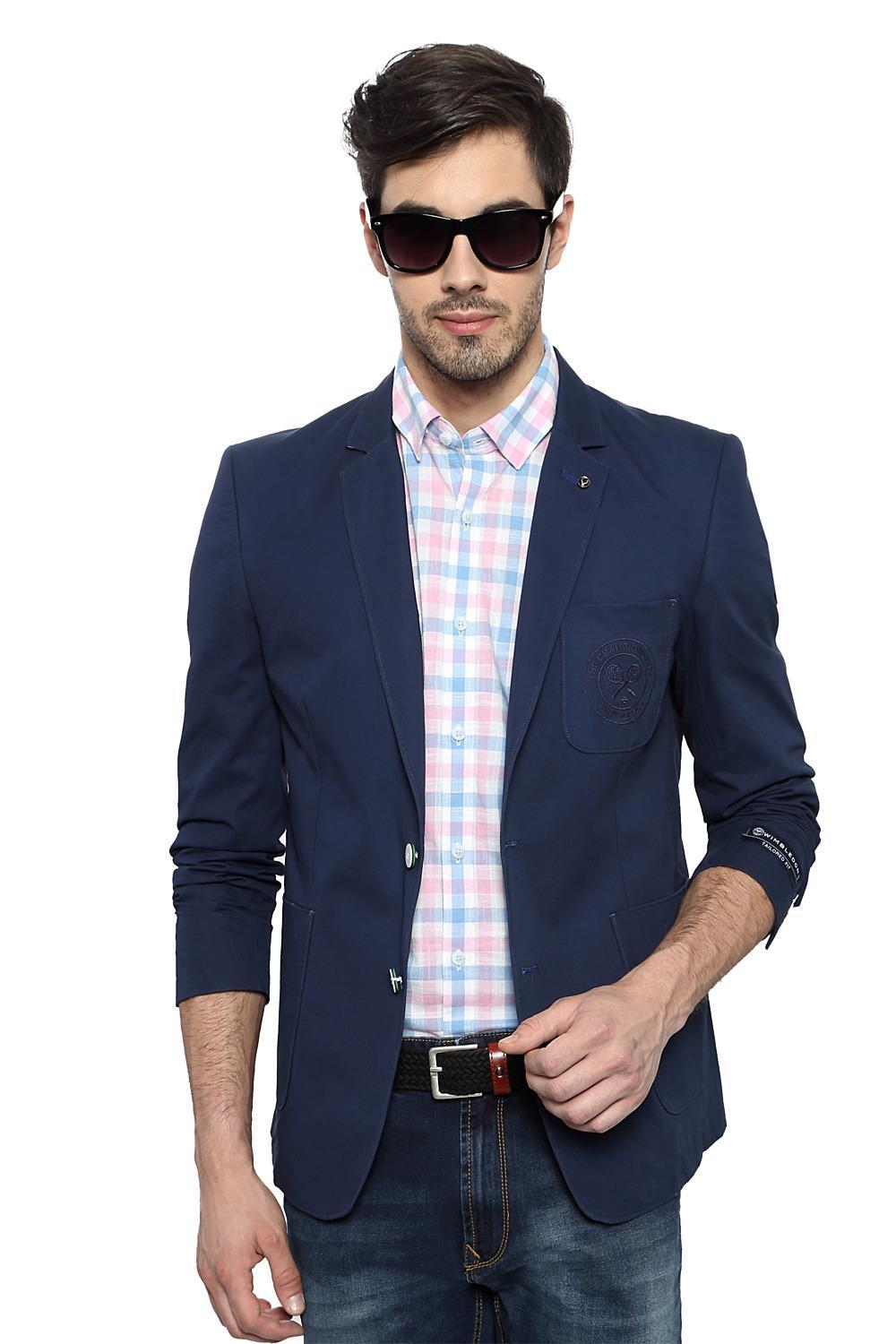 179bc42f9e3d Solly Sport Suits & Blazers, Allen Solly Blue Wimbledon Blazer for Men at  Allensolly.com