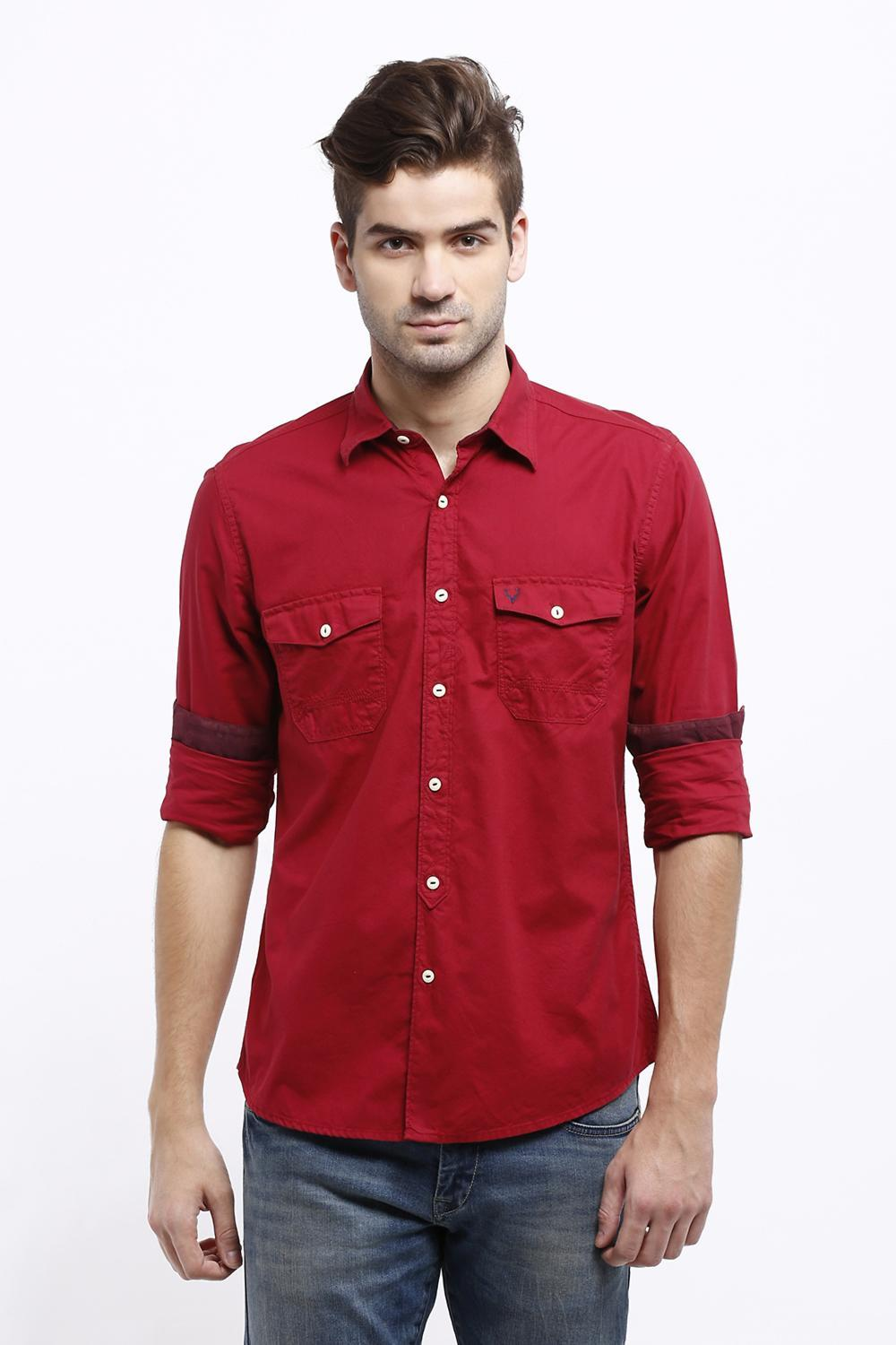 Solly Jeans Co Shirts Allen Solly Red Shirt For Men At Allensolly Com