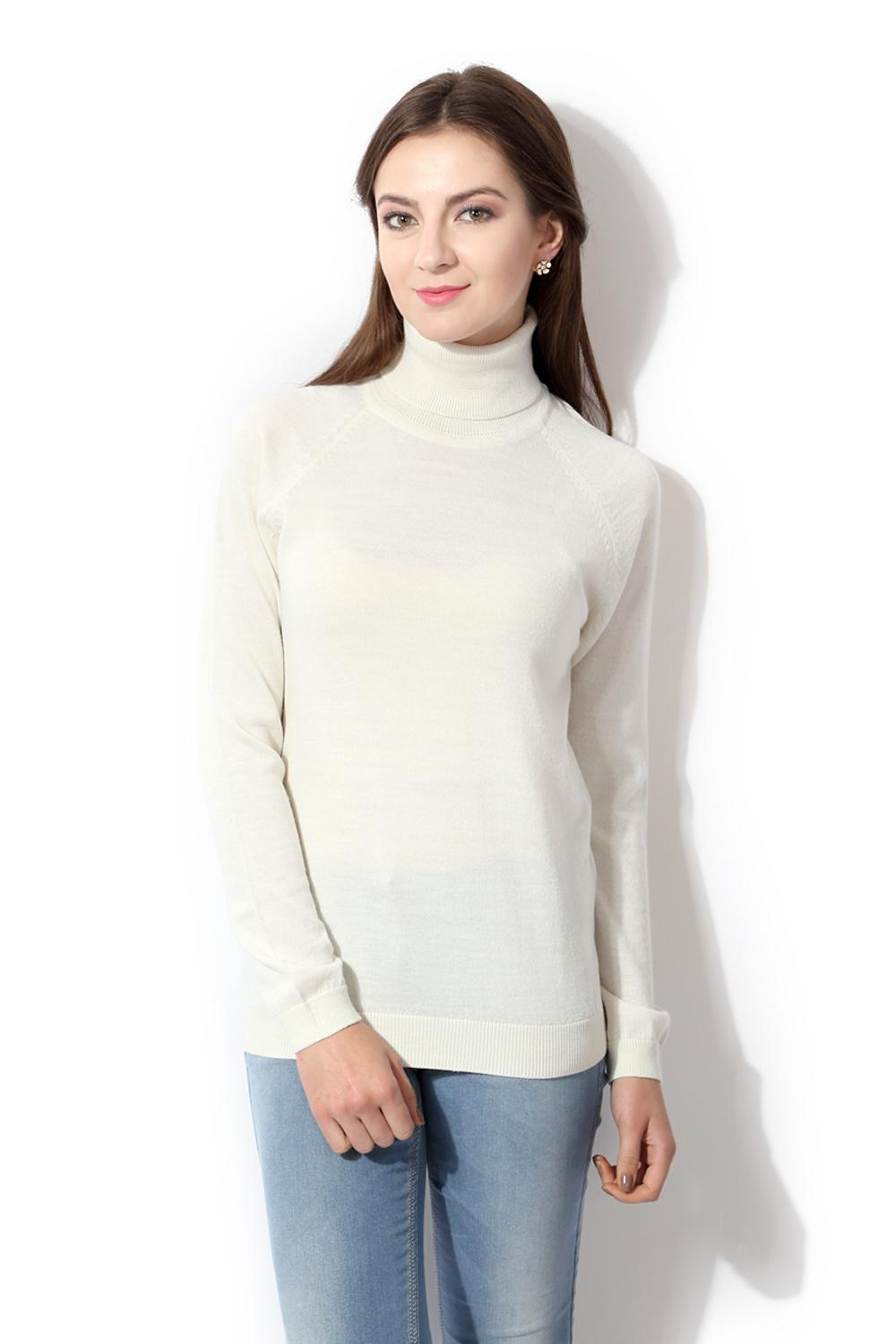 b09b4d4cbff9 Solly Sweaters & Cardigans, Allen Solly White Sweater for Women at  Allensolly.com