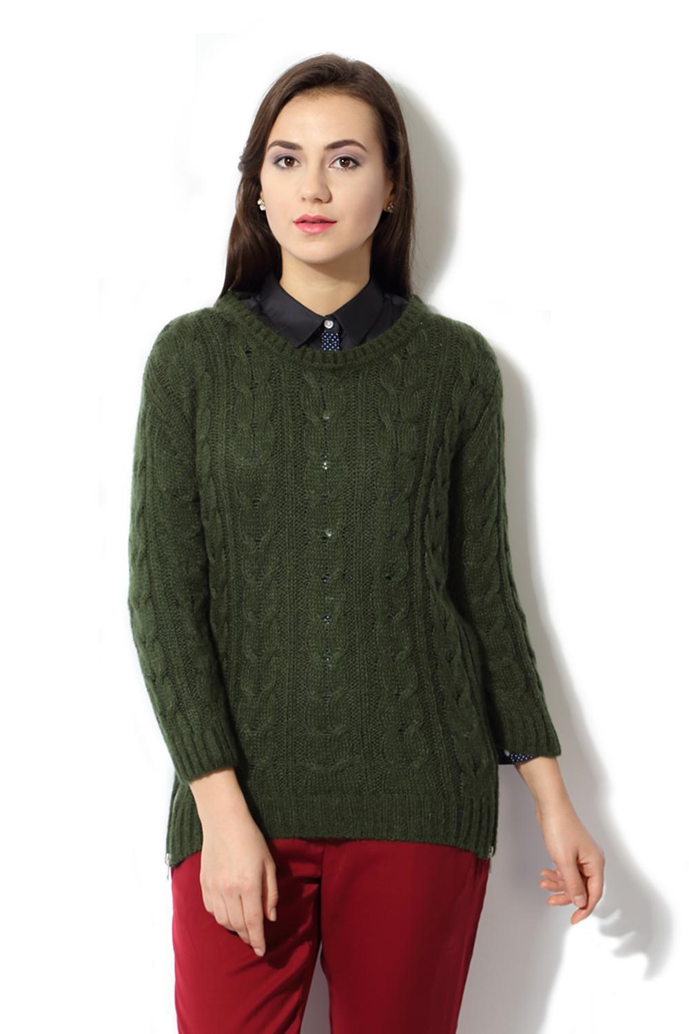 Solly Sweaters Cardigans Allen Solly Green Sweater For Women At Allensollycom